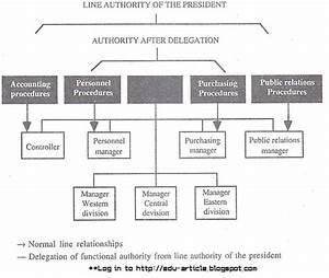 Financial Controller Organizational Chart How Functional Authority Is Delegated Within The Organization