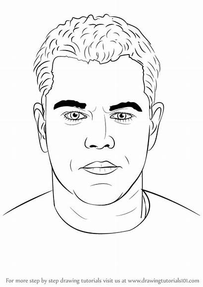 Draw Step Damon Matt Drawing Celebrities Learn