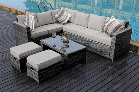 New Conservatory Modular 8 Seater Rattan Corner Sofa Set