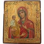 Mother Icon Mary Jesus Child Christ Antique