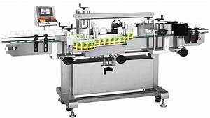 double sided labeling machine automatic square bottles With jar labeling machine