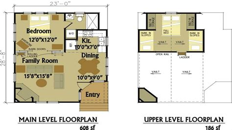 cabin floor plans small cabin floor plans  loft small cottage floor plan treesranchcom