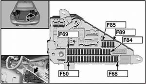 Bmw 5-series  E60  E61   2003 - 2010  - Fuse Box Diagram