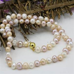 Wholesale price natural pearl necklace 7 8mm freshwater ...