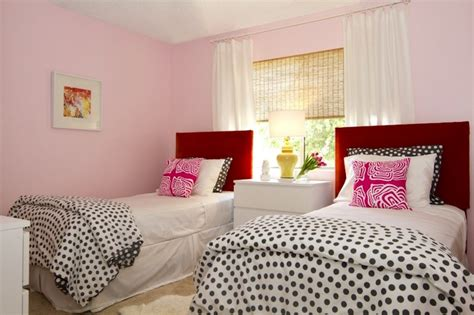 pink walls bedroom pink and red girls room contemporary girl s room turquoise la