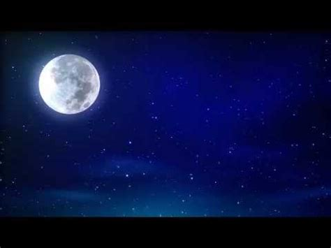 Full Moon Sky Wallpaper Moon And Blue Night Sky Motion Background Youtube