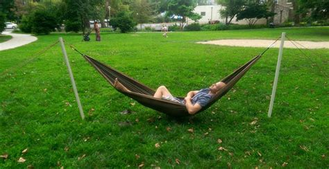 portable hammock stand how to pitch a hammock in the absence of trees cing