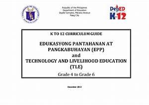 Edukasyong Pantahanan at Pangkabuhayan and Technology and ...