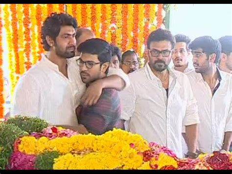 actress lakshmi funeral ram charan emotional over ramanaidu s death