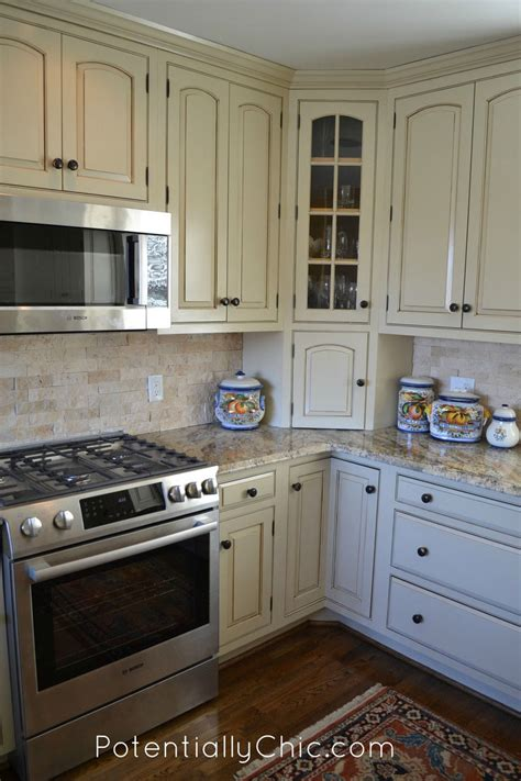 paint glaze kitchen cabinets lighter and brighter kitchen in linen milk paint and 3931