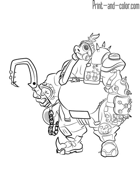 overwatch coloring pages print  colorcom