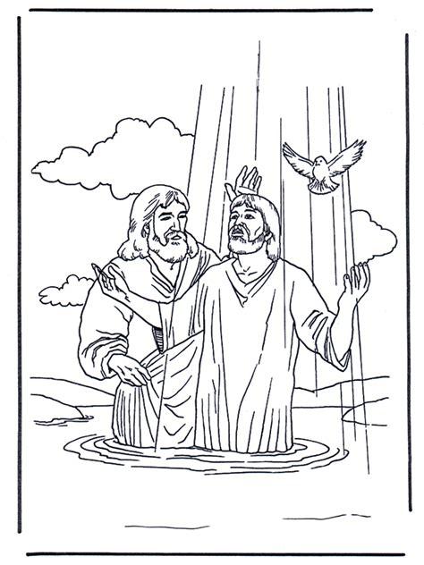 jesus und johannes der taeufer  malvorlagen neues testament