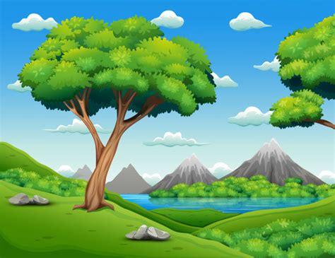 foto de Paisagem da floresta com fundo bonito da natureza Vetor