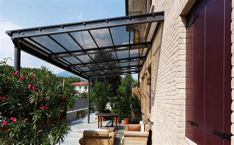 tettoia in ferro e policarbonato tettoia pergola in alluminio copertura in policarbonato o