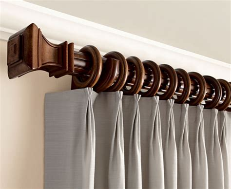 Kirsch Decorative Wood Drapery Hardware, Kirsch Wood Poles Fly Curtains For Doors Red White And Blue Striped Good Quality Shower Curtain Duvet Matching Sets Sheer Online Blackout Tab Top 63 Length Small Windows On Door