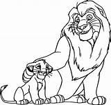Lion Coloring King Simba Pride Mufasa sketch template