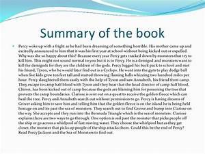 The Lightning Thief Book Report Summary Sludgeport693