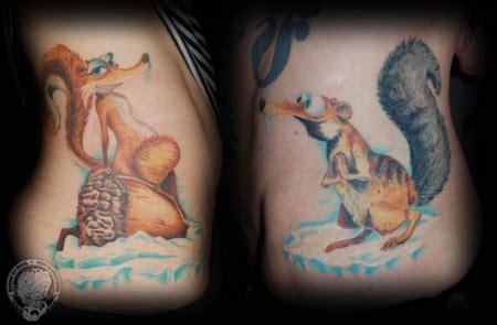 zottl ice age scrat partnertattoo tattoos von tattoo