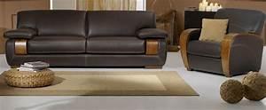 un avenir pour le canape cuir et bois With canapé cuir bois