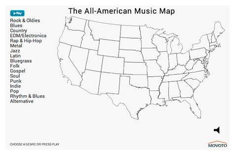 usa statistics bureau map shows america s preferences by genre
