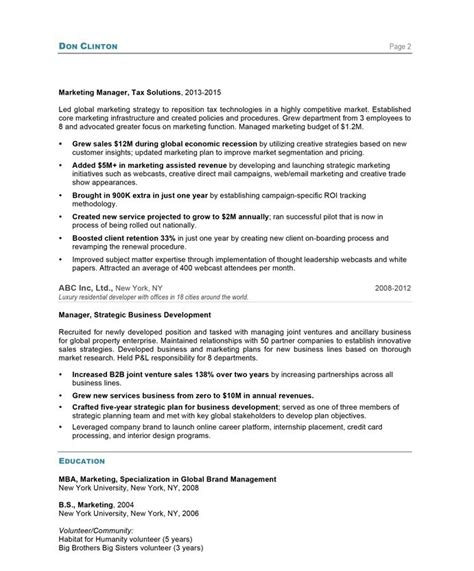 Blue Sky Resumes by Marketing Director Free Resume Sles Blue Sky Resumes