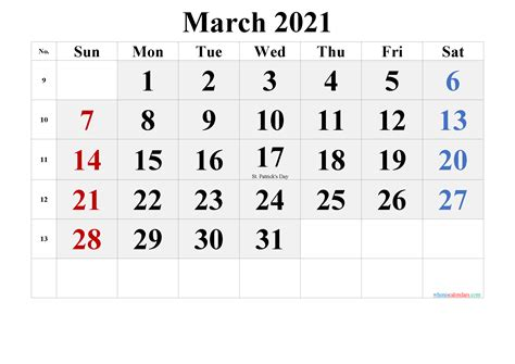 Printable 5 By 8 2021 Calendar - Print these free ...