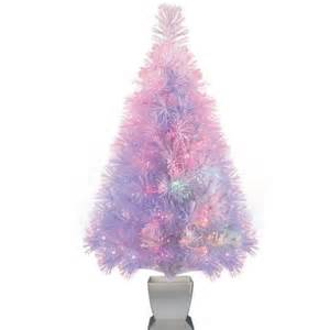holiday time artificial christmas trees pre lit 32 quot fiber optic artificial tree white color