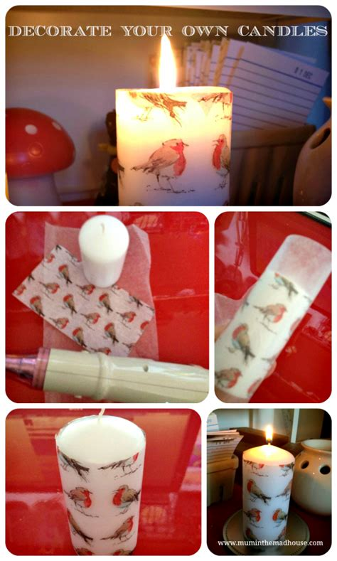 homemade christmas decorate  pillar candle homemade