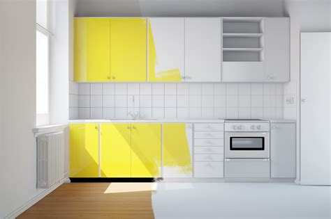 repeindre des meubles de cuisine la peinture d un meuble de cuisine
