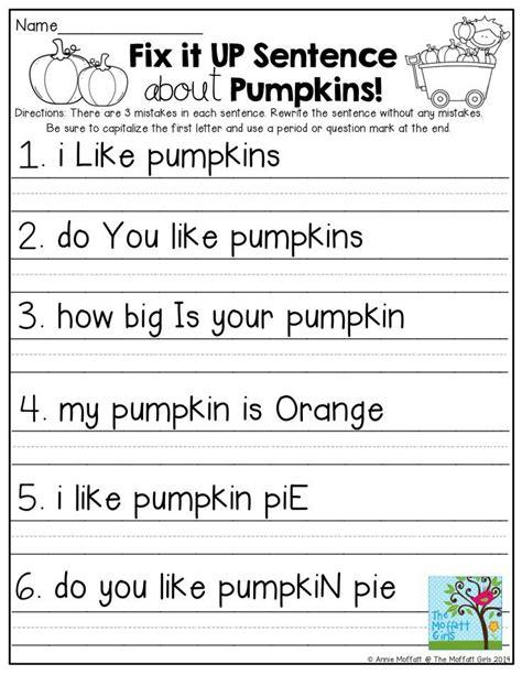 28 best fix sentences kindergarten images on