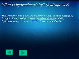 Hydroelectricity Or Hydropower