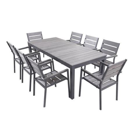 table et chaise de jardin en aluminium ensemble table extensible de jardin 200 250 300 cm 8
