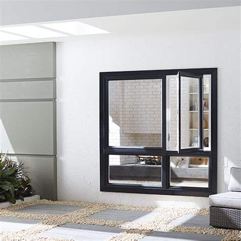 jeld wen        series black finishield single hung vinyl window   lite