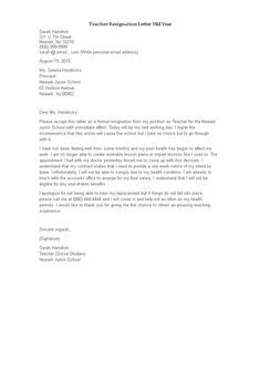 Writing a Complaint Letter to your Principal (with Sample)   Teacher resignation letter