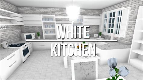 roblox   bloxburg white kitchen  youtube