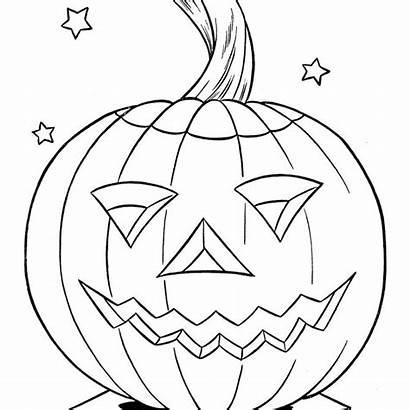 Pumpkin Coloring Pumpkins Halloween Printable Sheet Jack