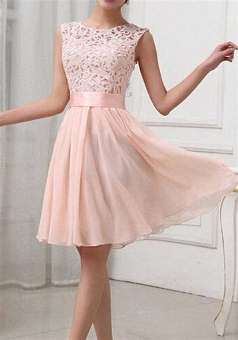 light pink dresses light pink patchwork lace hollow out bandage bodycon prom