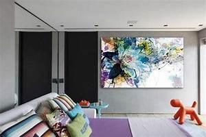 tableau design decoration murale tendance et tableaux With déco chambre bébé pas cher avec fleur sechees