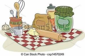 EPS Vector of Baking Utensils and Ingredients
