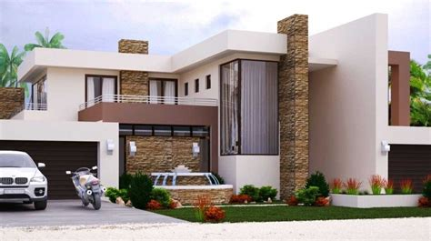 modern style house plan  bedroom double storey floor plans home design nethouseplans