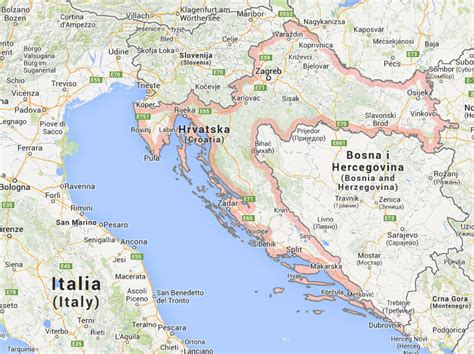 Adriaküste Kroatien Karte