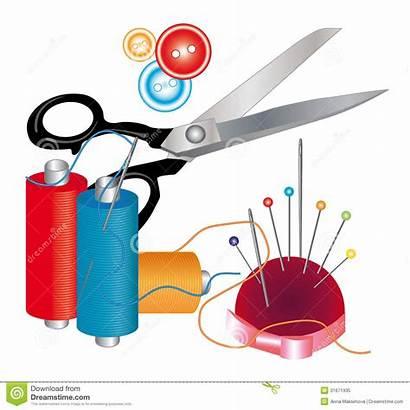 Sewing Tools Materials Thread Needles Scissors Herramientas