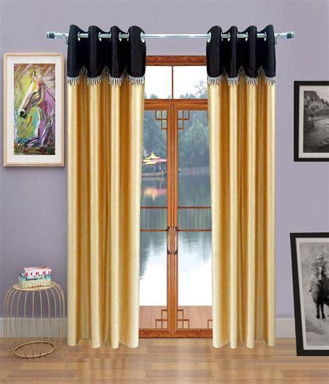 homefab india single window eyelet curtain solid brown