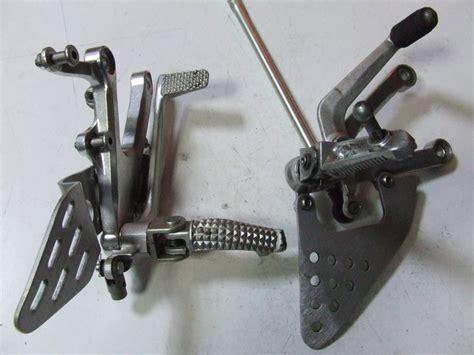 pedane usate moto guzzi breva 750 ed altro coppia di pedane alluminio