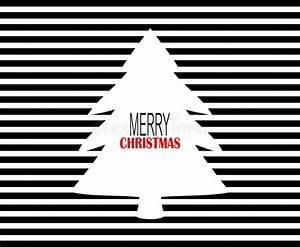 Modern Merry Christmas Design With Black Pinstripes And ...