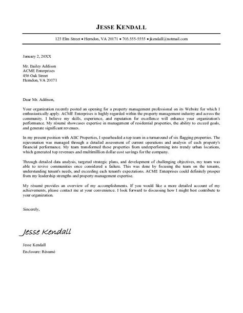 Cover Letter For Professional Resume by Free Cover Letter Sles For Resumes Sle Resumes