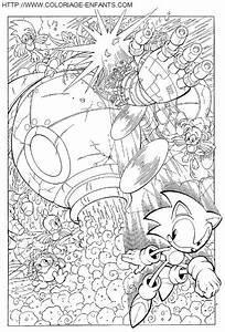 Imprime Le Dessin Colorier De Sonic