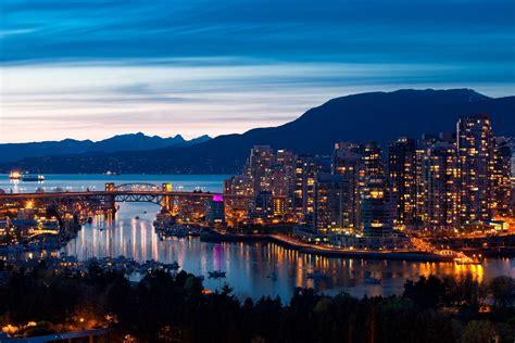 Oświetlone, Miasto, Vancouver, Kanada