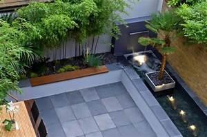 Garten Und Wasser : terrassengestaltung mit wasser und garten freshouse ~ Sanjose-hotels-ca.com Haus und Dekorationen