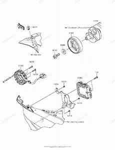 Kawasaki Motorcycle 2013 Oem Parts Diagram For Generator